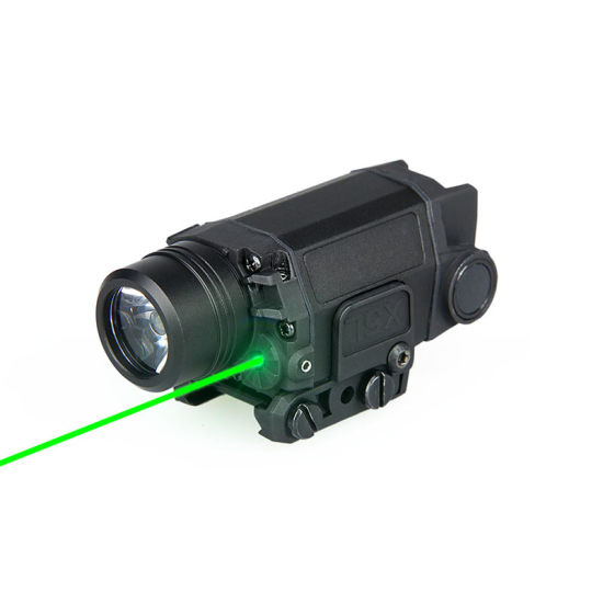Tactical LED Flashlight with Green Laser Cl15-0095
