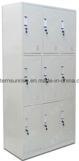 Cheap Changing Room Bathroom 9 Door Metal Steel Locker/Cabinet pictures & photos