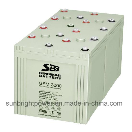 Deep Cycle 2V3000ah High Quality Lead Acid Telecom Battery