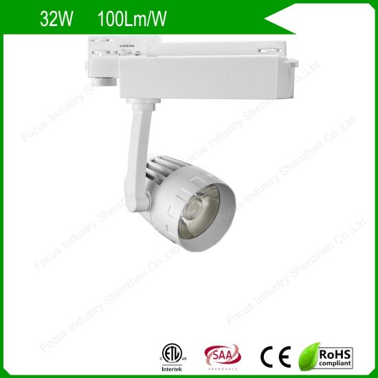 ETL/UL SAA 2/3/4 Wires Anti Glare LED Track Light Spot for Industrial