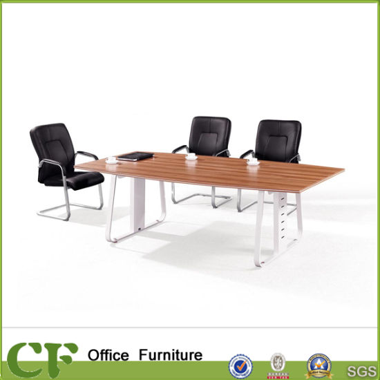 China Metal Leg Office Small Wood Meeting Table For Person China - 6 person conference table