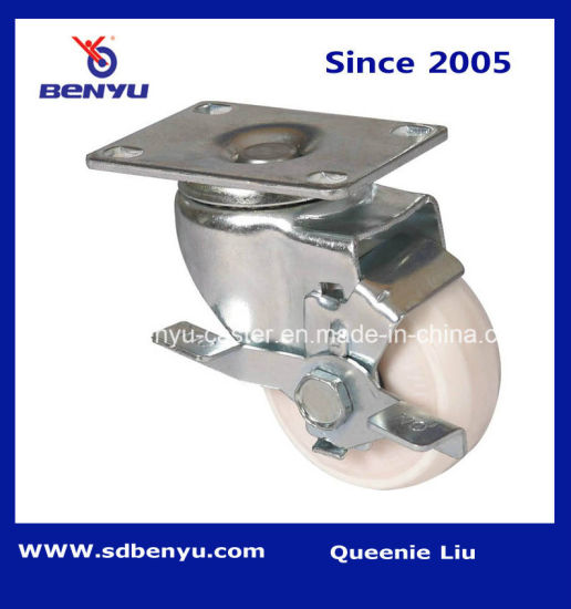 3-5 Inch Nylon Caster with Side Brake
