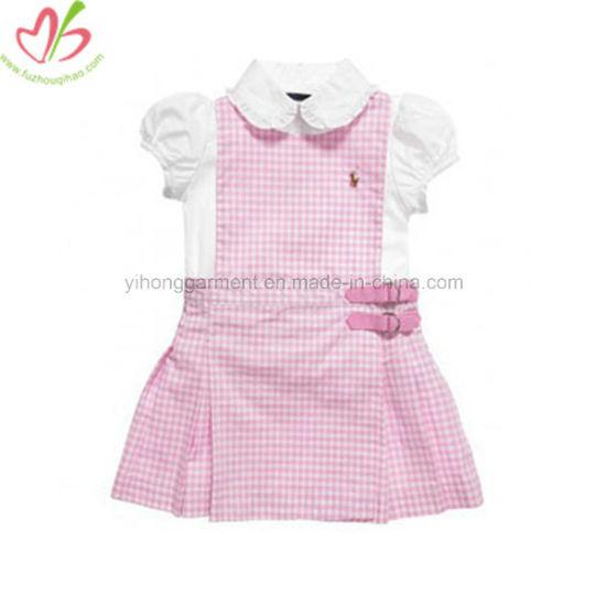 3e7fc137c China New Design Sweet Baby Girl Gingham Dress Splicing Skirt ...