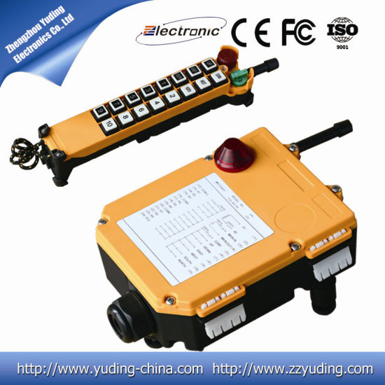 Two-Step Push Button Crane Radio Remote Control 16 Directions F24-16D pictures & photos