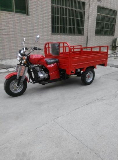 Red 3 Wheel Cargo Gasoline Tricycle (SY150ZH-E)