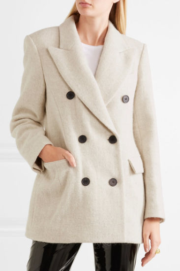 2017 High Qualtiy and Low MOQ Wool and Alpaca-Blend Coat for Your Own Deisgns