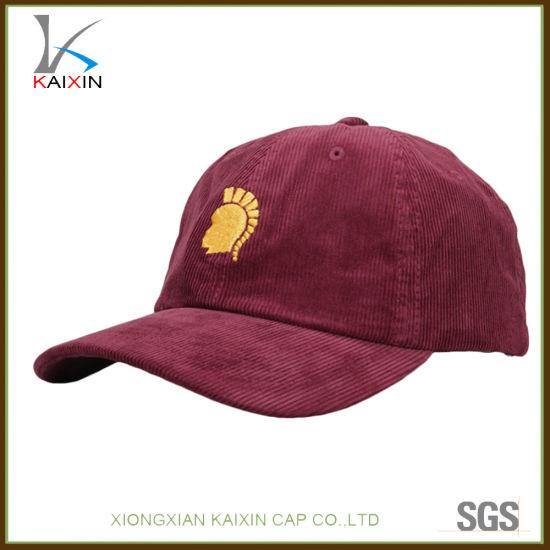 China Custom Plain 6 Panel Corduroy Baseball Cap Embroidered - China ... 07f70a8b0628