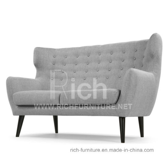 Modern Living Room Leisure Sofa With Wing Back 2 Seater