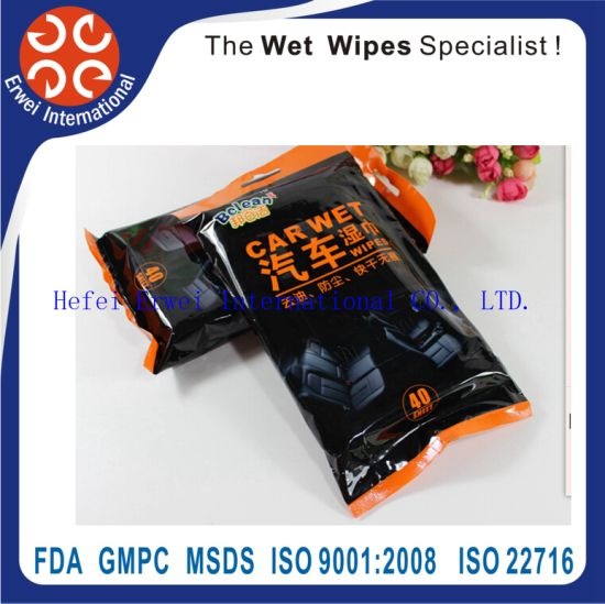 Car Leather Cleaning Wet Wipes pictures & photos