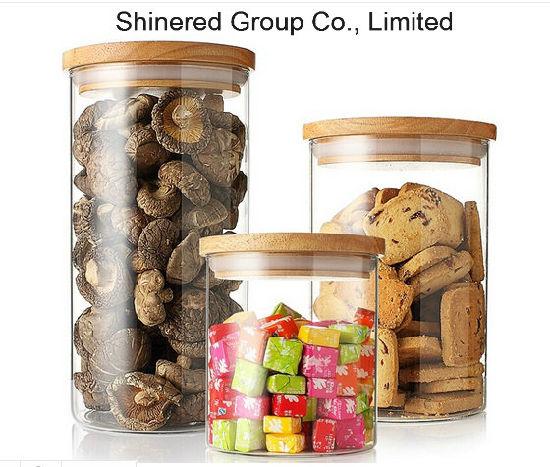Glass Jar, Food Jar, Kitchenware Storage Can with Hermetic Seal