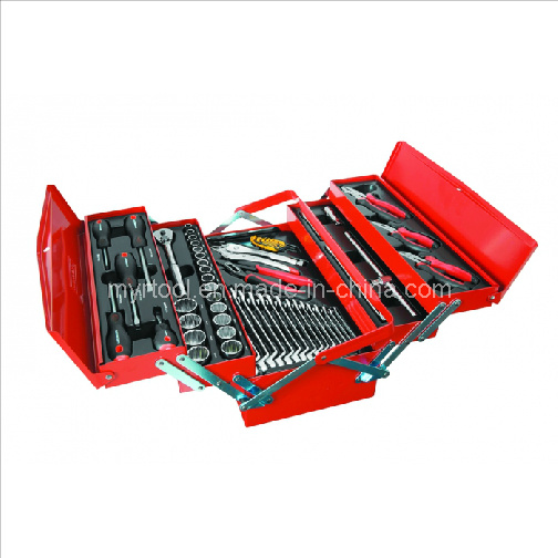 57 Piece Tool Kit in Metal Cantilever Tool Box pictures & photos