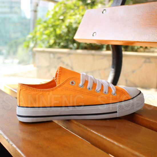 Women Classic Canvas Shoes Vulcanized Rubber Shoes (SNC-03027)