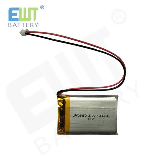 Customized Li-Polymer Battery Ewt Lithium Battery Lp603450 Rechargeable Battery