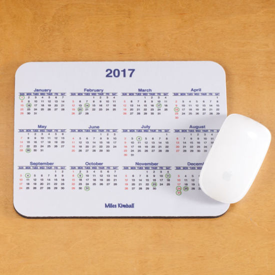 china professional factory for advertising customized calendar mouse
