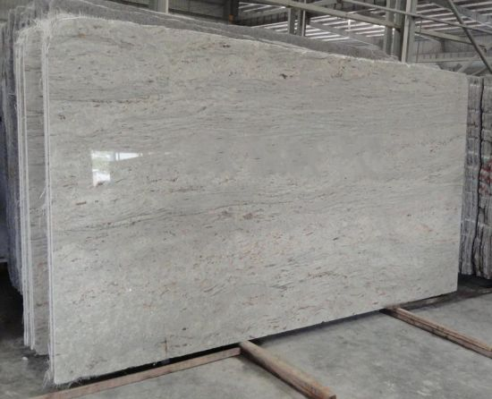 Polished River White Granite Slabs For Countertops Vanity Tops