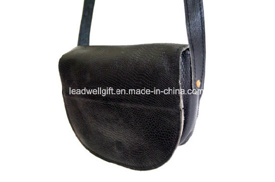 Crossbody Vintage Black Real Leather Bag Festival Purse Shoulder Bag pictures & photos