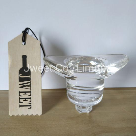 Custom Special Shape Glass Stopper for Tequila Glass Bottle