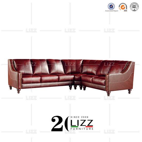 Sectional Furniture Leather Corner Sofa