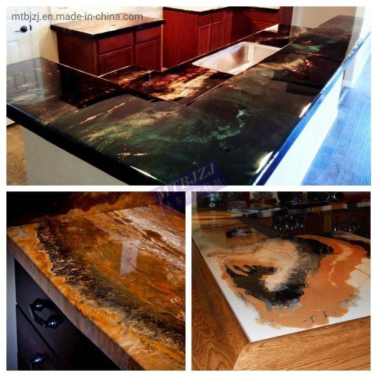 Kitchen Counter Top Floor Epoxy Resin