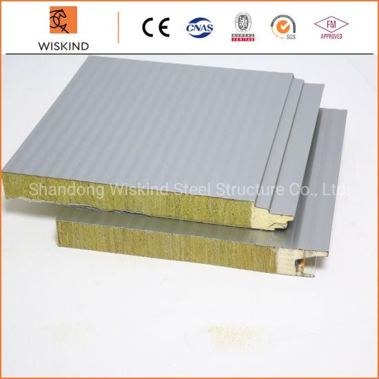 High Density EPS/PU/PIR/PUR/Polyurethane/Rock Wool Sandwich Panel Used on Cold Room/Storage