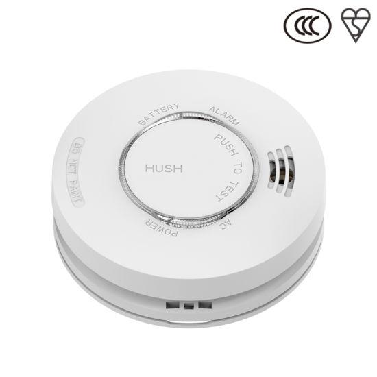 Fire Alarm White Wired Smoke Detector AC220V DC9V