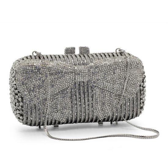 Mini Soft Evening Clutches Bag Sparkly Handbag Glitter Crystal HandBag Purse Clutch Pouch