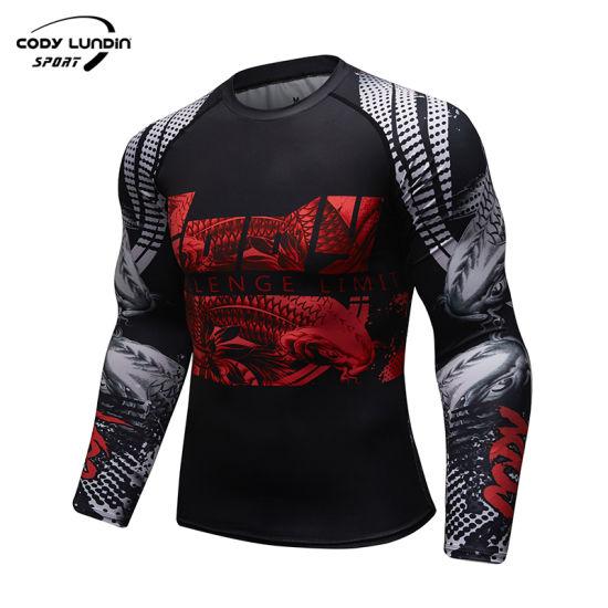 Sportswear Men Gym Compression Rashguard Long Sleeve Sports Shirt
