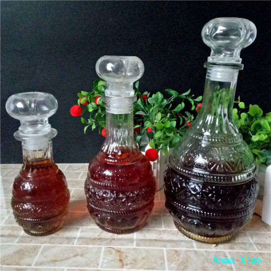 Stocked Glass Wine Bottles Glass Lids 250ml 500ml 950ml pictures & photos