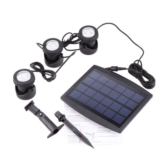 3PCS*6 LED Solar Light Auto on Outdoor RGB Garden Light Landscape Yard Lawn Light IP68 Swimming Pool Lights Pond Underwater Spotlight pictures & photos