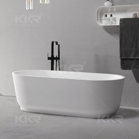 china high quality polished stone bathroom freestanding bathtubs
