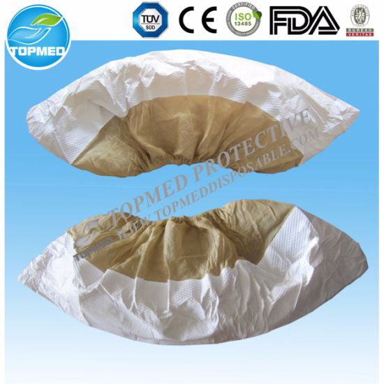 Nonskid Shoe Cover, Anti Slip Shoe Cover, Half Coated PP Nonwoven Shoe Cover pictures & photos