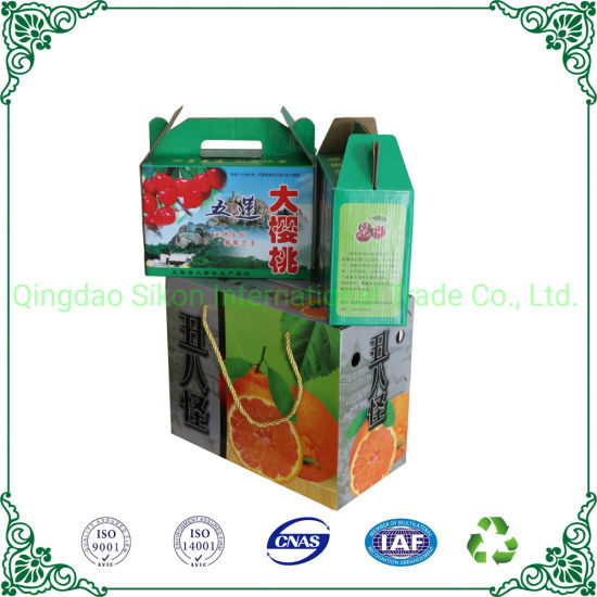 Color Printing Corrugated Cardboard Packaging Box Fruit Packaging Carton Box