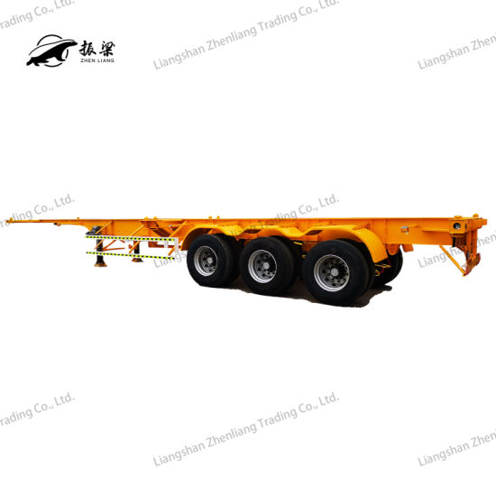 2/3 Axle 20FT/40FT/45FT Container Transport Skeleton/Skeletal Chassis Semi Trailer