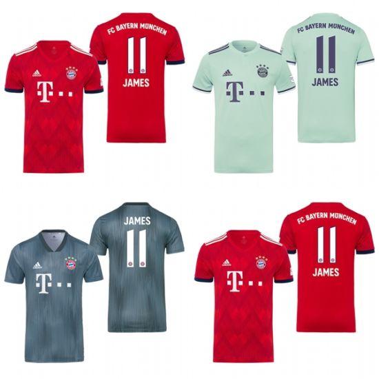 China Bayern Munich 11 James Rodriguez Home Away Third Soccer ...