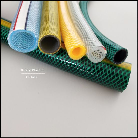 PVC Polyester Flexible Reinforced Pipe/Tube/Hose Used in Garden/Household for Conveying Water/Liquid/Powder/Oil