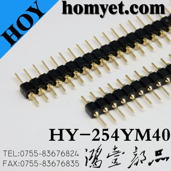 2.54mm 180 Single Row 40p Male Pin Header pictures & photos