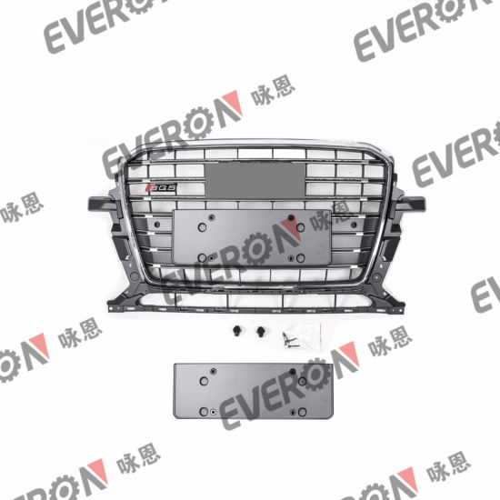 Car Body Parts Modified ABS Front Grille for Audi Q5 to Sq5
