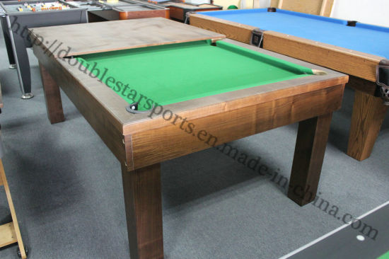Genial 2 In One MDF/Solid Wood Pool Table Dining Table Combo Cheap Price