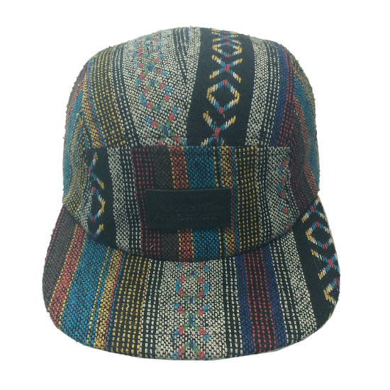 Custom Promotional Fabric Hat 5 Panel Hat Camper Cap Supreme Hat