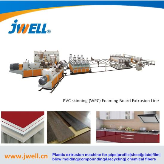 Plastic PVC WPC Foaming Semi-Skinning Board Extrusion Line