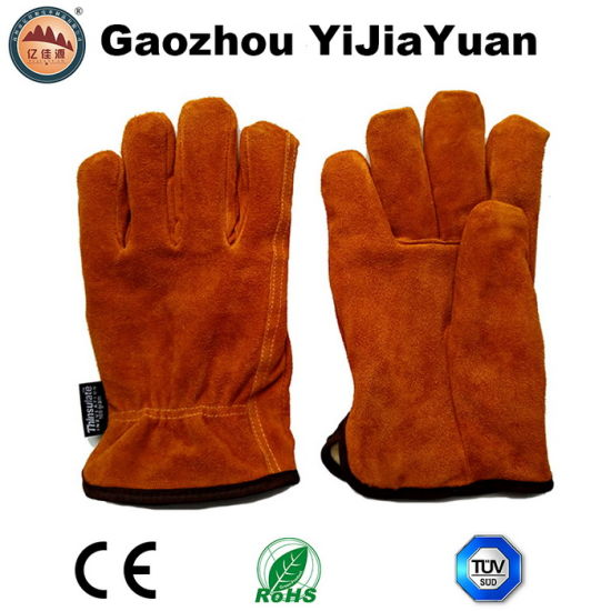 Leather Safety Hand Protection Winter Warm Gloves for Driving pictures & photos