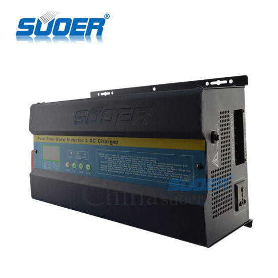 Suoer 1kw 2kw 3kw UPS Pure Sine Wave Power Inverter with AC Charger (FI 1-3K) pictures & photos