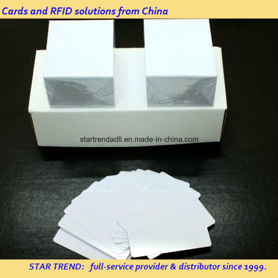 Blank Plastic Yellow Card of Cr80/30mil for Retailer Stock pictures & photos
