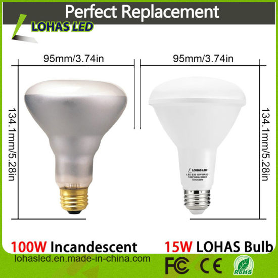 Br20 Br30 15W 20W Aluminum+PC Dimmable LED Bulb pictures & photos