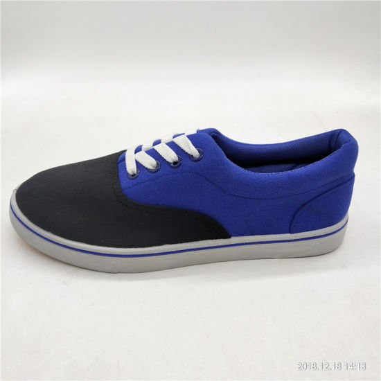 Fashion Men Injection Casual Canvas Sneakers Shoes (XS1812-11) pictures & photos