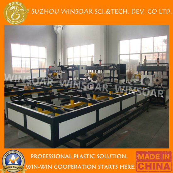 Automatic PVC PP PE Double Oven Pipes Plastic R Type/Z Type/Rectangle Socketing Belling Machine