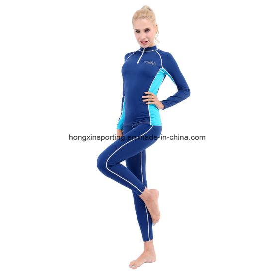 Two-Piece Long Rash Gurad for Swimwear Sports Wear & Surfing Suit