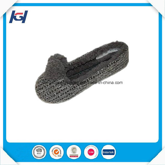Cheap Wholesale Soft Sole Knitted Ballet Slippers for Lady pictures & photos