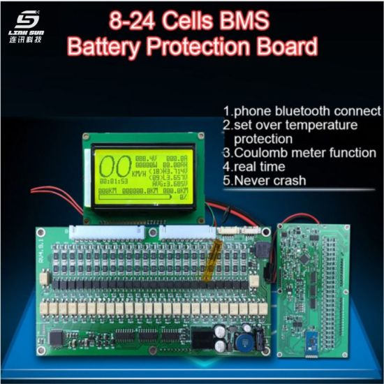 8s 10s 24s 300A 200A 150A 100A 70A Lithium Battery Protection Board BMS
