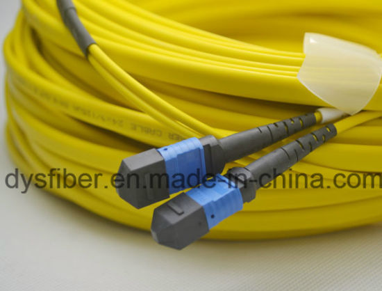 100g Om3 MTP (MALE) Original Brand Connector Standard Loss Patchcord pictures & photos